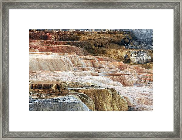 Mammoth Hot Springs Terracaes Framed Print