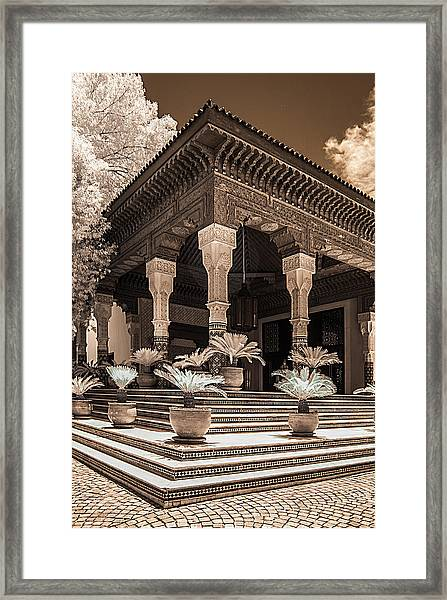 Mamounia Hotel In Marrakech Framed Print
