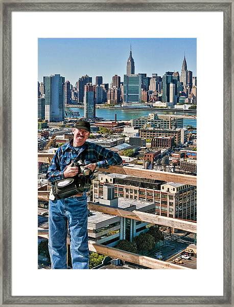 Man At Work Framed Print