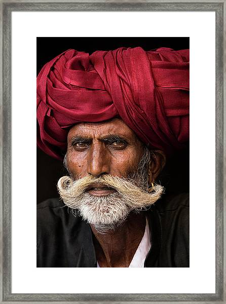 Man From Rajasthan Framed Print