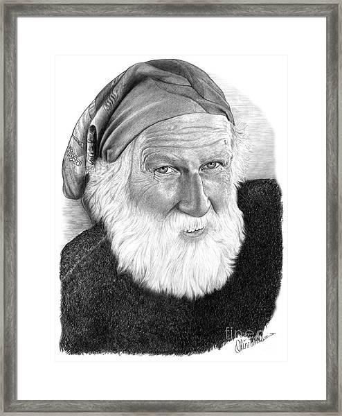 Man In Head Scarf Framed Print