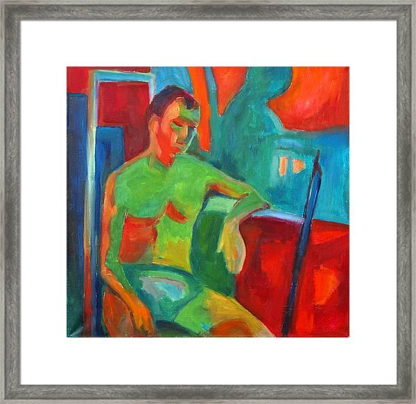 Man In Still Life Framed Print by Magdalena Mirowicz