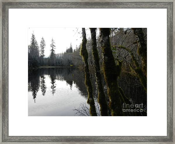 Man Made Hole Framed Print
