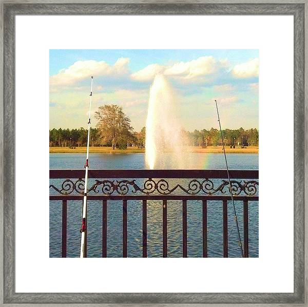 Man Made Rainbow Framed Print