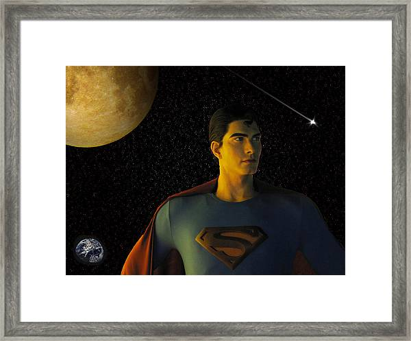 Framed Print featuring the photograph Man Of Steel by David Dehner