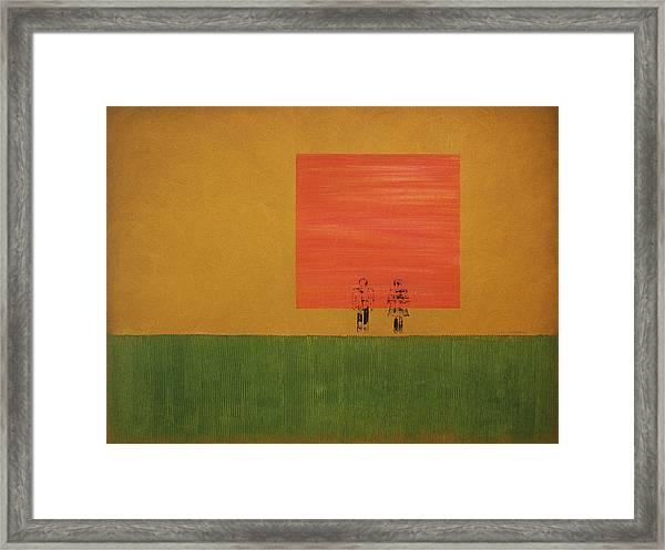 Man On The Brink Framed Print