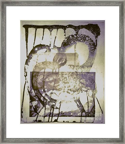 Man Step Framed Print