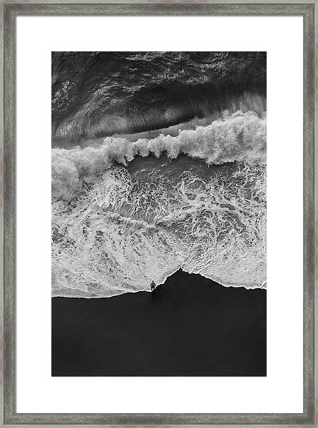 Man Vs Nature Framed Print