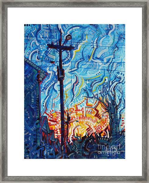 Man Vs. Nature Framed Print
