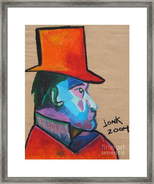 Man With Top Hat Framed Print