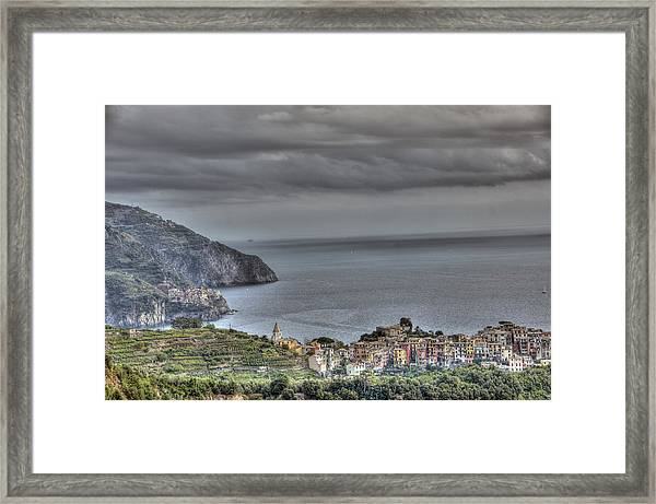 Manarola And Corniglia By The Sea 1 Framed Print