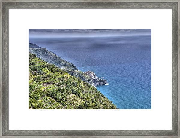 Manarola By The Sea Framed Print