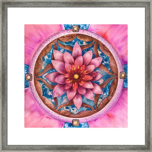Mandala Of Health Framed Print