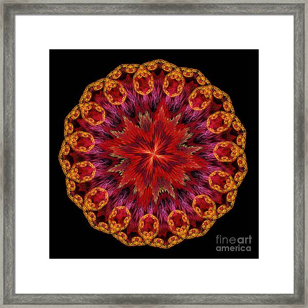 Mandala Of Love Framed Print