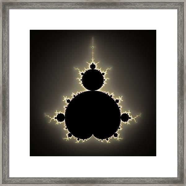 Mandelbrot Set Square Format Art Framed Print