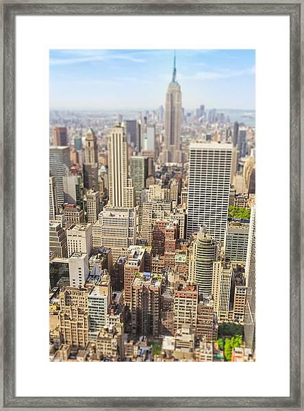 Manhattan Aerial View Framed Print