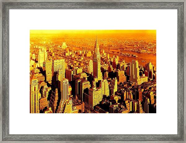 Manhattan And Chrysler Building Framed Print