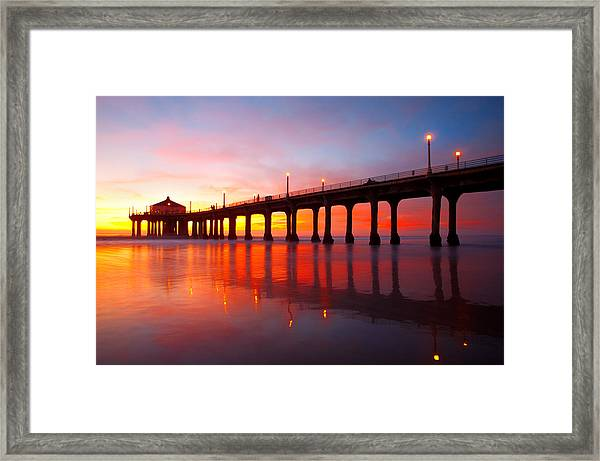 Manhattan Beach Pier Framed Print