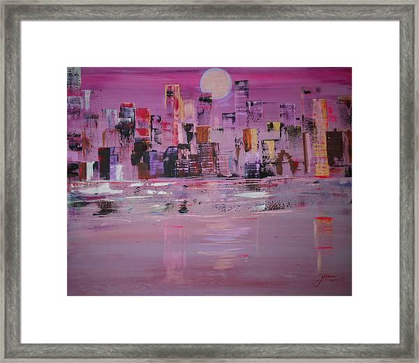 Manhattan Moonshine Framed Print