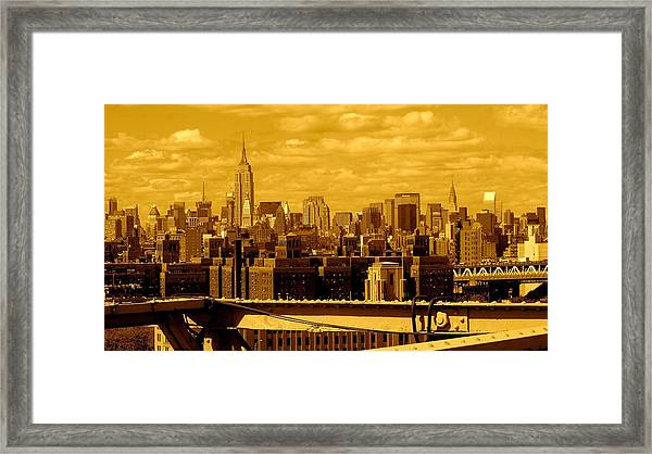 Manhattan Skyline Framed Print
