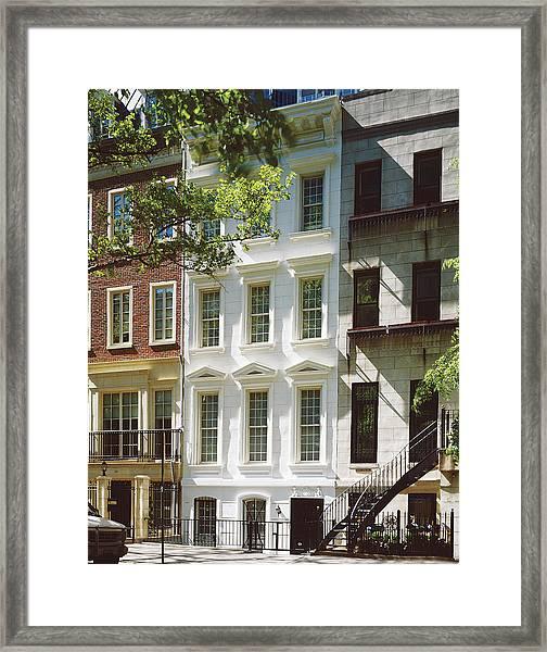 Manhattan Street View Framed Print