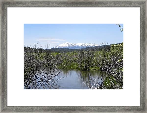 Lake Manitou Sp Woodland Park Co Framed Print