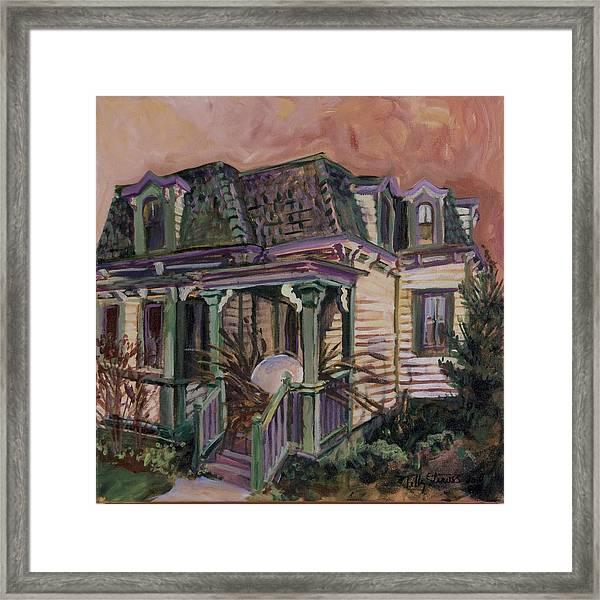 Mansard House With Nest Egg Framed Print