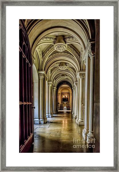 Mansion Hallway Framed Print