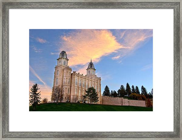 Manti Temple Morning Framed Print