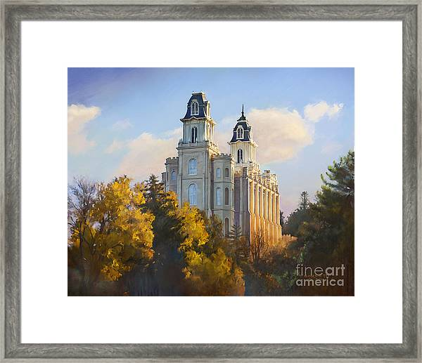 Manti Temple Framed Print