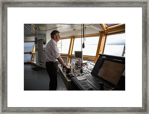 Manuevering Z-drive Ship Framed Print