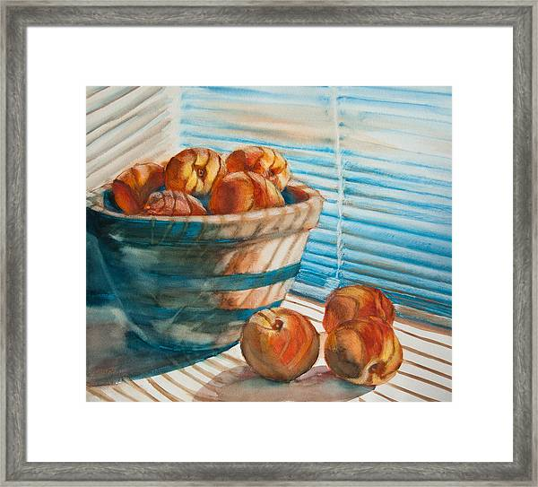 Many Blind Peaches Framed Print by Jani Freimann