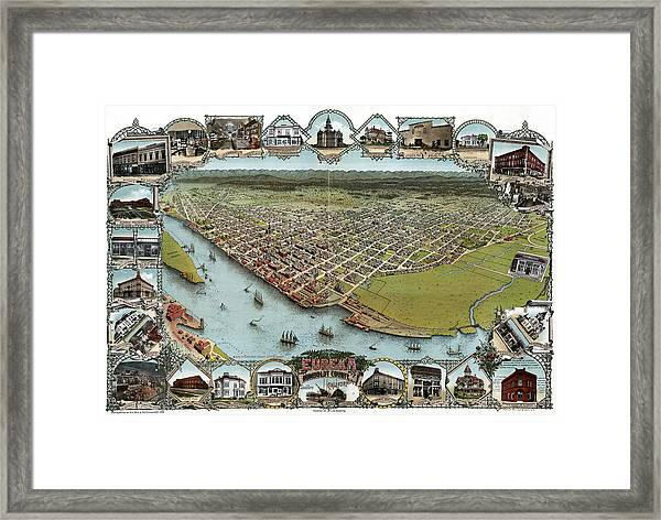 Map Eureka, 1902 Framed Print