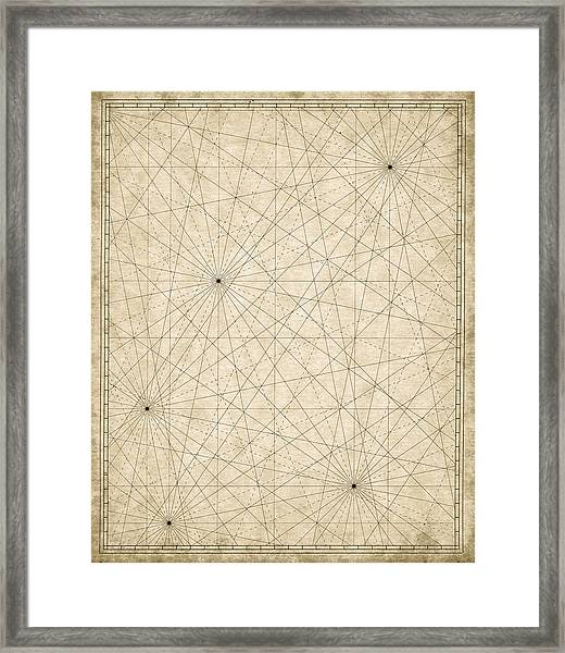 Map Grid Framed Print by Tyndyra