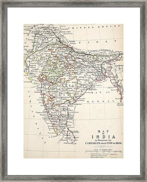 Map Of India Framed Print