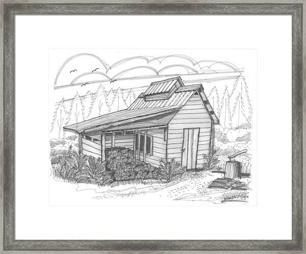 Maple Sugar House Framed Print