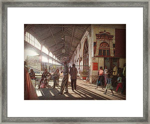 Maputo Railway Station Framed Print