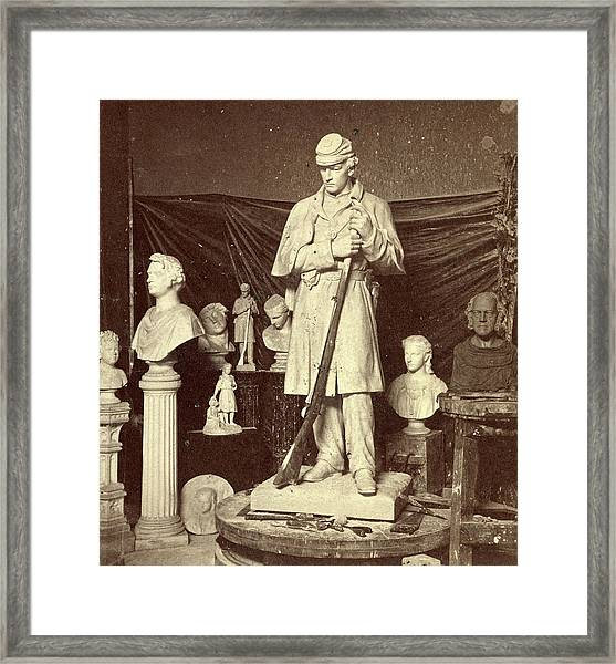 Maquette Of Union Soldier For Roxbury Soldiers Monument Framed Print