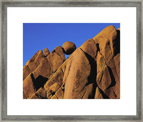Marble Rock Formation Closeup Framed Print