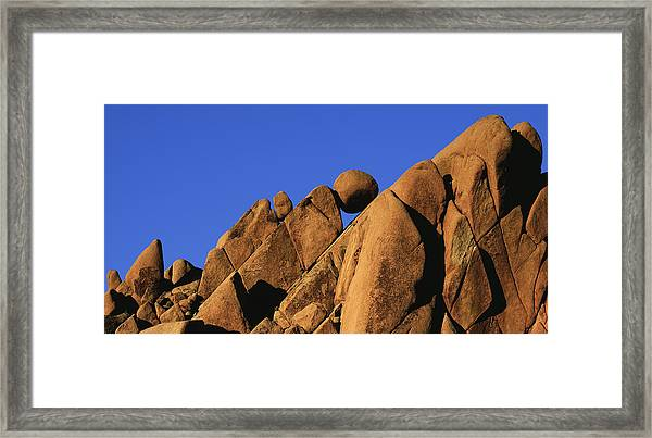 Marble Rock Formation Pano Framed Print