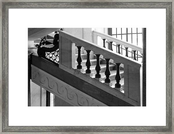 Marble Stair Framed Print