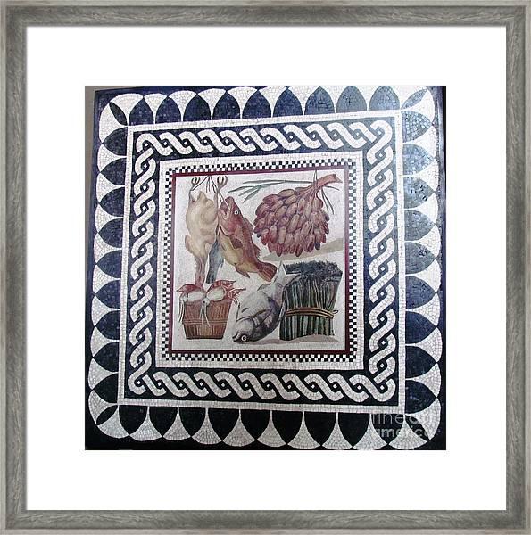 Marble Tile  Framed Print