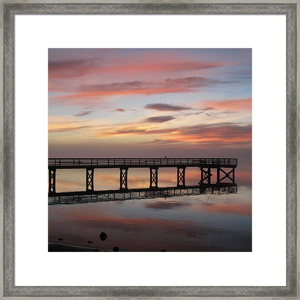Marbled Pier Framed Print