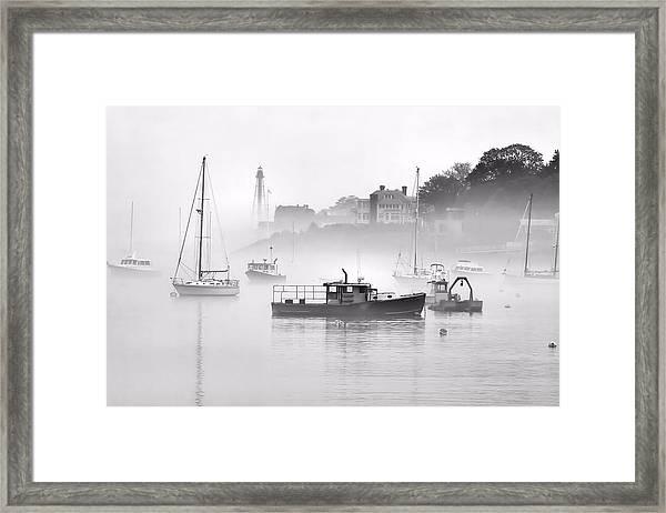 Marblehead Fog Framed Print