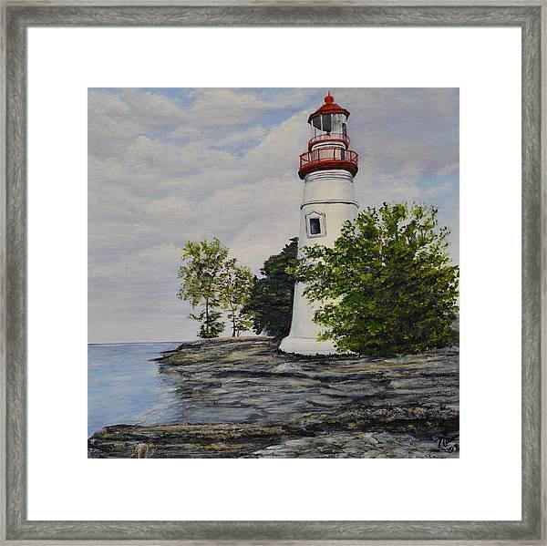 Marblehead Light House On Lake Erie Framed Print