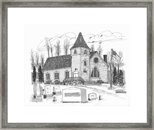 Marbletown Church Framed Print
