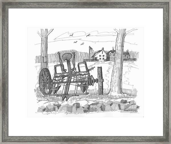 Marbletown Farm Equipment Framed Print