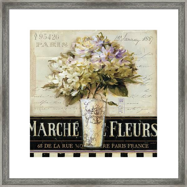 Marche De Fleurs Framed Print