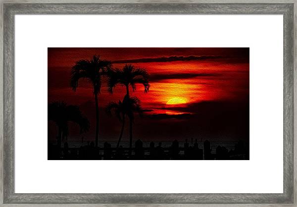Marco Island Sunset 59 Framed Print