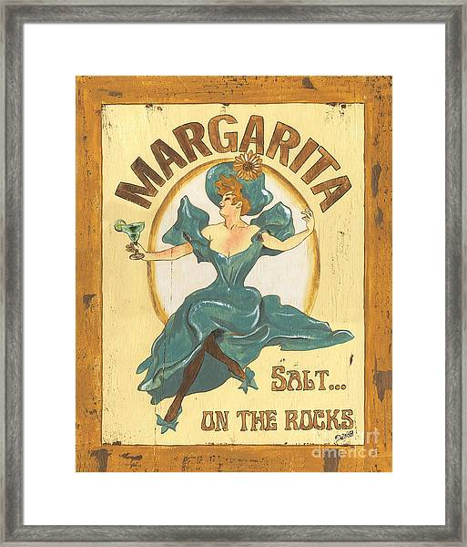 Margarita Salt On The Rocks Framed Print